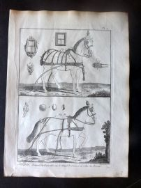 Diderot C1790 Antique Print. Sellier. Horse Saddle 07